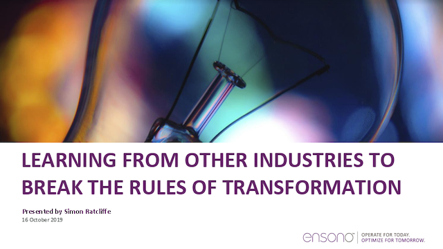 Learning From Other Industries to Break the Rules of Transformation