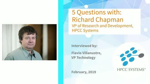 HPCC Systems Community Focus: 5 Questions with Richard Chapman