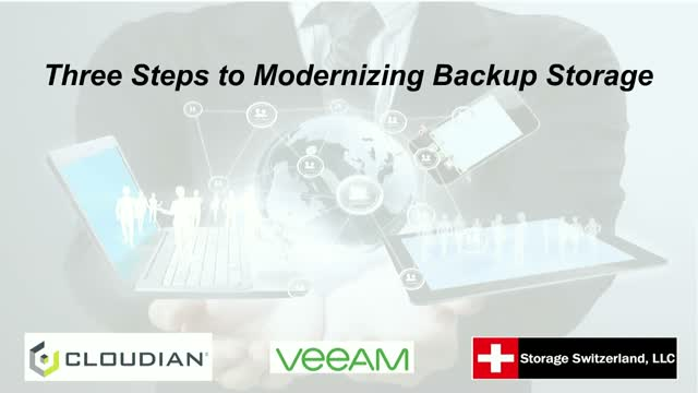 Three Steps to Modernizing Backup Storage