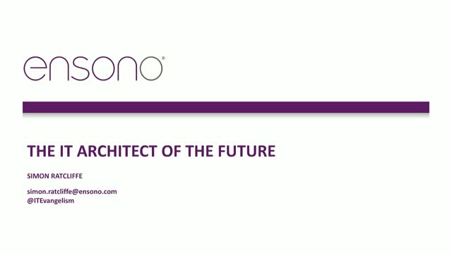 The IT Architect of the Future