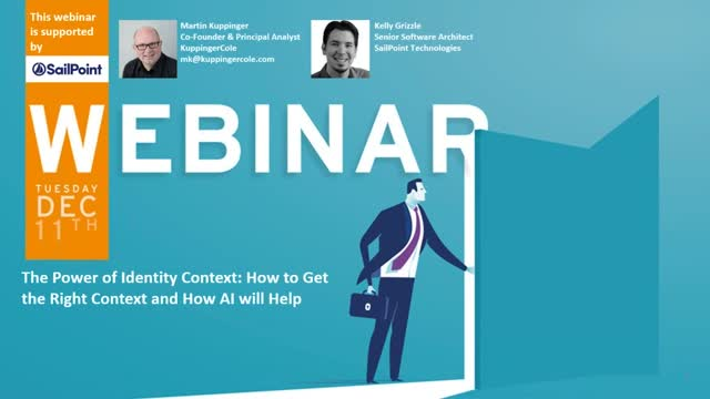 KuppingerCole Webinar: The Power of Identity Context and How AI will Help