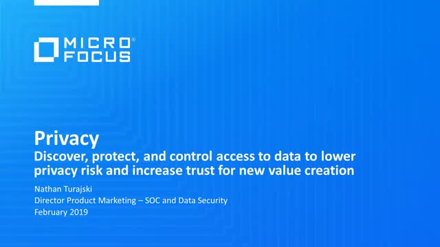 Discover, protect, and control access to data to lower privacy risk