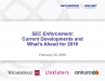 SEC Enforcement: Current Developments and What's Ahead for 2019