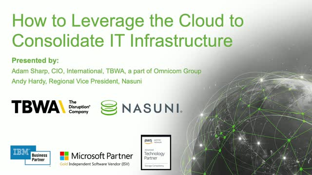 How to Leverage the Cloud to Consolidate IT Infrastructure