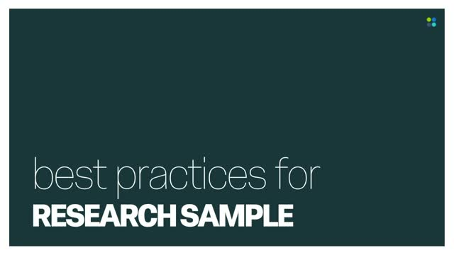 Best Practices for Research Sample