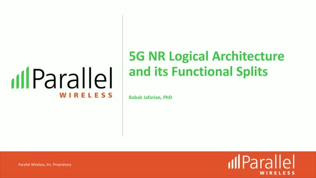 5G NR Logical Architecture and its Functional Split Options
