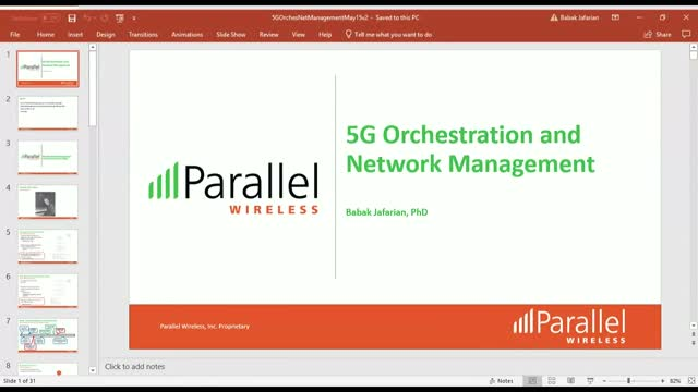 5G Orchestration and Network Management