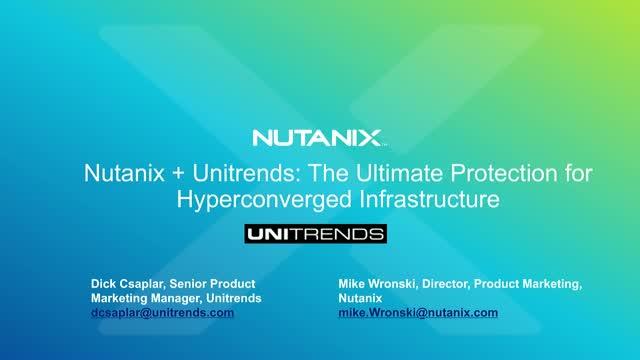 The Ultimate Protection for Hyperconverged Infrastructure