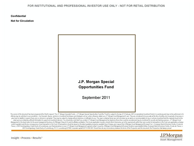 J.P. Morgan JSOF Update