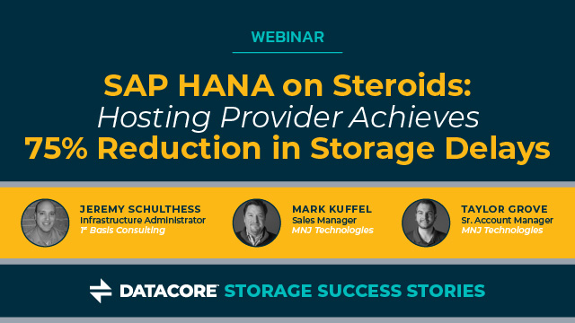 SAP HANA on Steroids: Hosting Provider Achieves 75% Reduction in Storage Delays