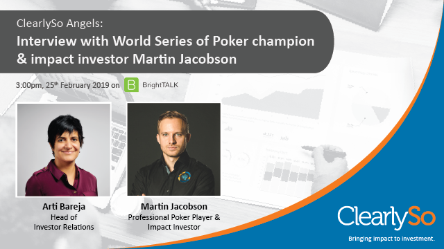 ClearlySo Angels: Interview with World Series of Poker champion Martin Jacobson