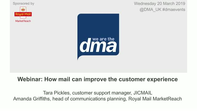 Webinar: How mail can improve the customer experience