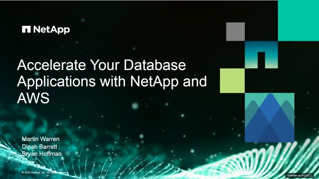 Accelerate your Database Applications with NetApp and AWS