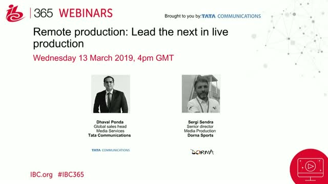 Remote production: Lead the next in live production