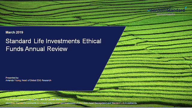 Ethical Funds Annual Review with Amanda Young