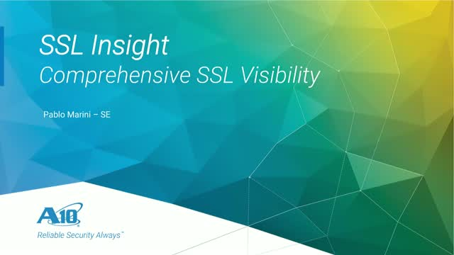 [Webinar en Español] SSL Insight: Visibilidad Total de SSL