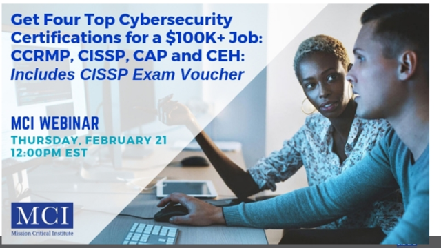 Get Four Top Cybersecurity Certifications for a $100K+ Job + CISSP Exam Voucher