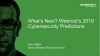 What's Next? Webroot's 2019 Cybersecurity Predictions (APAC)