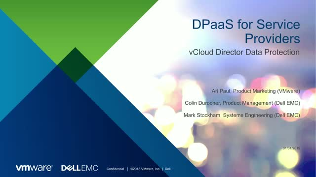 DPaaS for Service Providers: Protect VMware Workloads