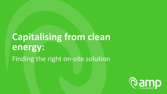 Capitalising from clean energy: finding the right on-site solution