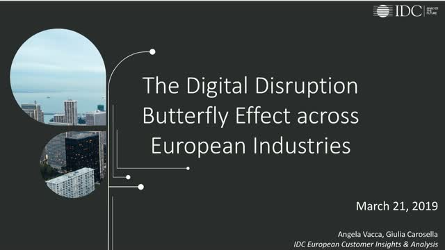 The digital disruption butterfly effect across European industries in 2019