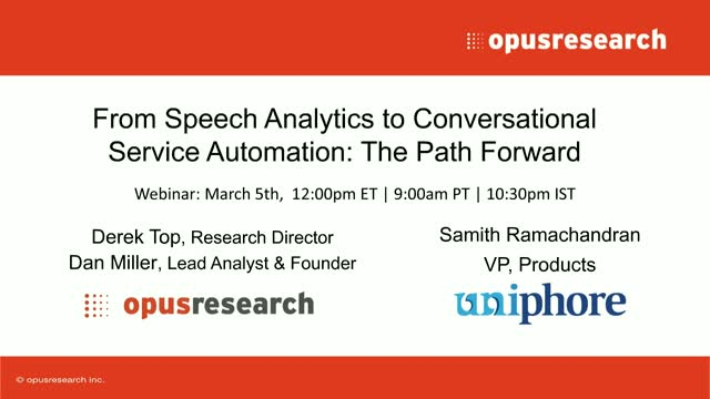From Speech Analytics to Conversational Service Automation: The Path Forward