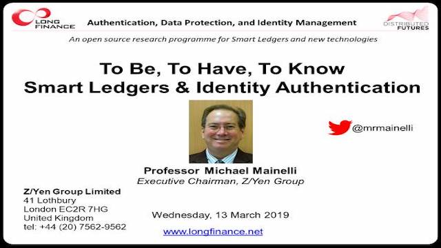 To Be, To Have, To Know - Smart Ledgers & Identity Authentication