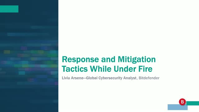 Response and Mitigation Tactics While Under Fire