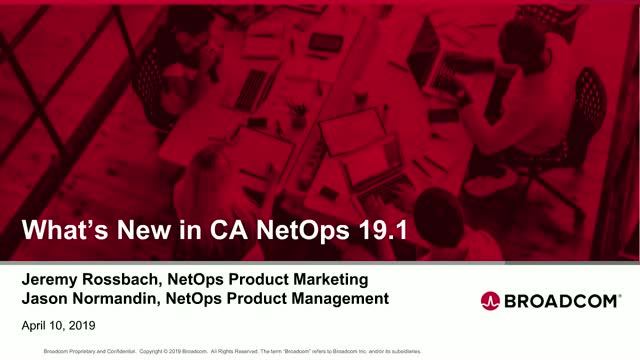 CA/Broadcom: What's New in Network Operations Analytics v19.1