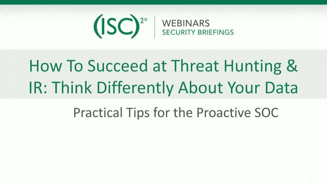 ExtraHop #3: How to Succeed at Threat Hunting & IR: Think Differently about Data
