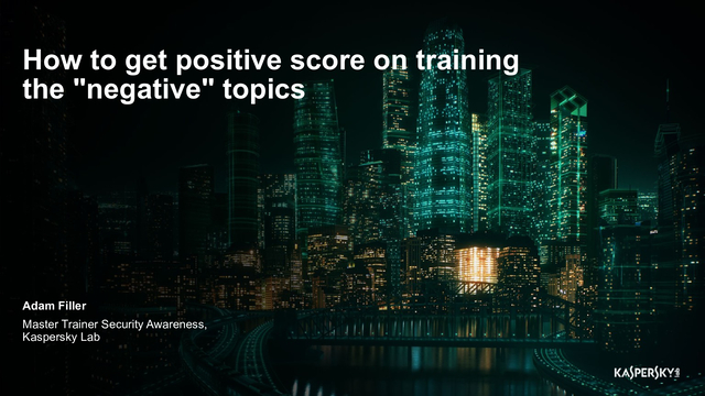 "How to get positive score on training the ""negative"" topics"