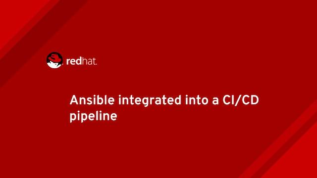 Ansible integrated into a CI/CD pipeline