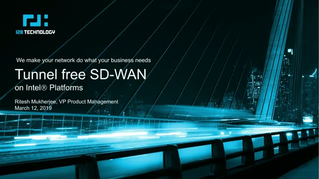 Tunnel Free SD-WAN on Intel® Platforms