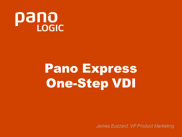 Pano Express: One-Step VDI