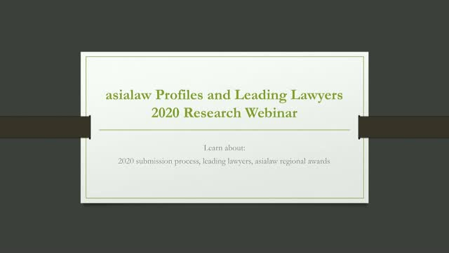 asialaw 2020 Research Webinar