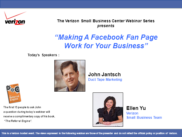 Making a Facebook Fan Page Work for Your Business