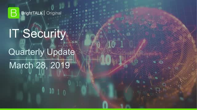 Q1 2019 Community Update: IT Security