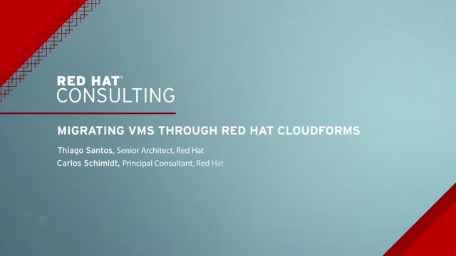 Migrating VMs through Red Hat CloudForms