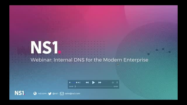 Internal DNS for Modern Enterprises - 1 PM GMT