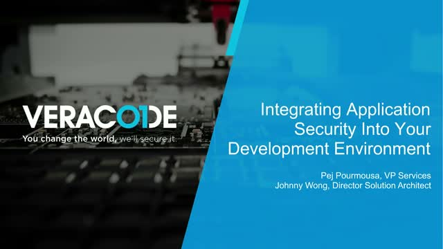 Integrating Application Security Into Your Development Environment