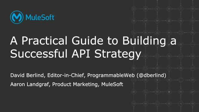 A practical guide to building a successful API strategy