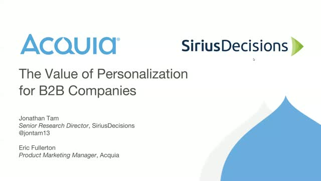 The Value of Personalization for B2B Companies