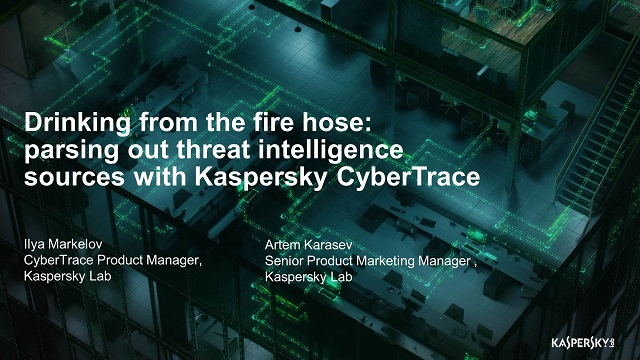 Parsing out threat intelligence sources with Kaspersky CyberTrace