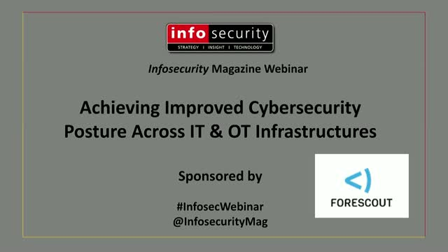 Achieving improved cybersecurity posture across IT and OT Infrastructures
