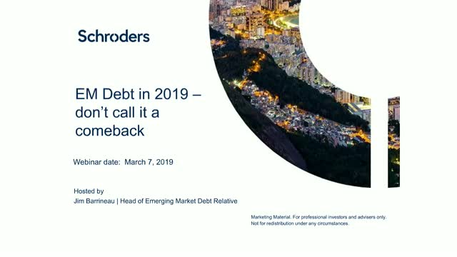 EM Debt in 2019 – don't call it a comeback