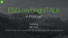 ESG on BrightTALK: The Podcast
