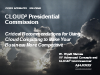 Presidential Commission on Cloud Computing: What you need to know