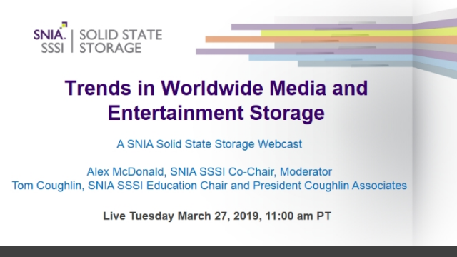 Trends in Worldwide Media and Entertainment Storage