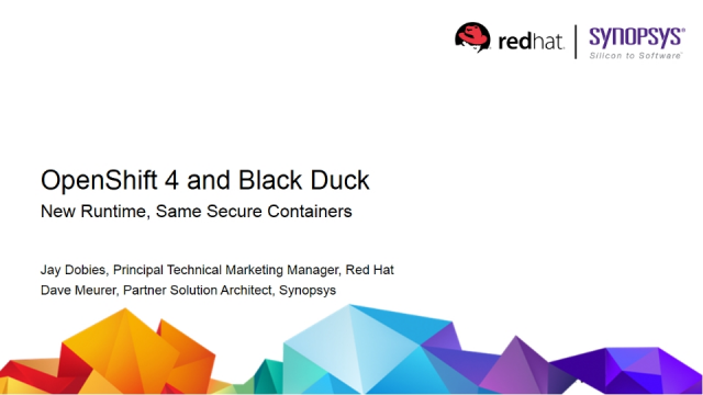 OpenShift 4 and Black Duck: New Runtime, Same Secure Containers