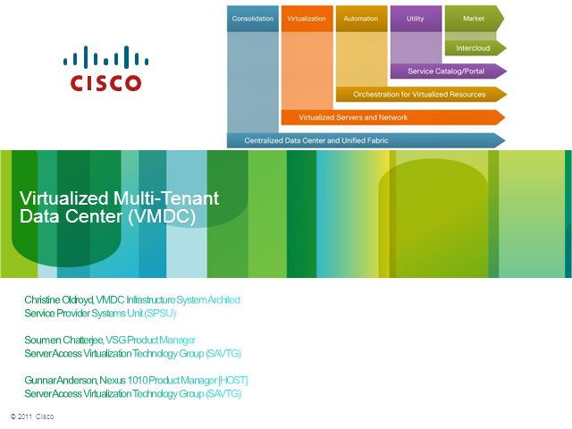 Virtualized Multi-Tenant Data Center (VMDC)